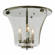 JVI Designs 1181-15 Greenwich Polished Nickel Finish 12.25  Wide Ceiling Light Fixture