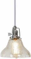 JVI Designs 1200-15-S11-CR Union Square Polished Nickel Mini Hanging Pendant Light