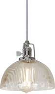 JVI Designs 1200-15-S12-CR Union Square Polished Nickel Mini Hanging Light Fixture