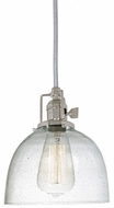 JVI Designs 1200-15-S5-CB Union Square Polished Nickel Mini Hanging Pendant Light