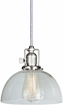 JVI Designs 1200-17-S12-CB Union Square Pewter Mini Drop Ceiling Light Fixture