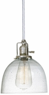 JVI Designs 1200-17-S5-CB Union Square Pewter Mini Pendant Hanging Light