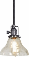 JVI Designs 1200-18-S11-CR Union Square Gun Metal Mini Pendant Lamp