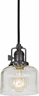 JVI Designs 1200-18-S4-CR Union Square Gun Metal Mini Pendant Lighting Fixture