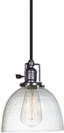 JVI Designs 1200-18-S5-CB Union Square Gun Metal Mini Hanging Light Fixture