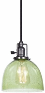 JVI Designs 1200-18-S5-LB Union Square Gun Metal Mini Ceiling Pendant Light