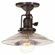 JVI Designs 1202-08-S1-SR Union Square Oil Rubbed Bronze Finish 7.25  Tall Ceiling Lighting