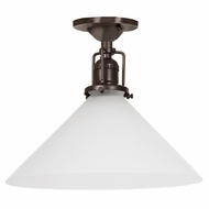 JVI Designs 1202-08-S2-F Union Square Oil Rubbed Bronze Finish 10  Wide Ceiling Lighting Fixture