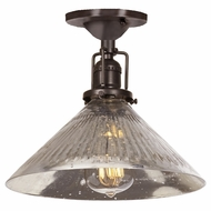 JVI Designs 1202-08-S2-SR Union Square Oil Rubbed Bronze Finish 7.5  Tall Ceiling Light Fixture