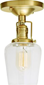 JVI Designs 1202-10-S9 Union Square Contemporary Satin Brass Flush Ceiling Light Fixture