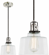 JVI Designs 1221-15-S14 Nob Hill Polished Nickel and Black Mini Drop Lighting