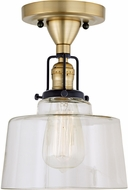 JVI Designs 1222-10-S14 Nob Hill Satin Brass and Black Home Ceiling Lighting