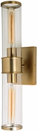 JVI Designs 1232-10 Gramercy Contemporary Satin Brass Lamp Sconce
