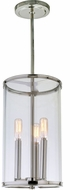 JVI Designs 1243-15 Gramercy Modern Polished Nickel 8  Mini Hanging Light Fixture