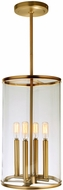JVI Designs 1244-10 Gramercy Contemporary Satin Brass 10  Mini Drop Lighting