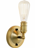 JVI Designs 1245-10 Bedford Contemporary Satin Brass and Black Wall Sconce Light