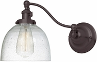 JVI Designs 1253-08-S5-CB Soho Madison Modern Oil Rubbed Bronze Swing Arm Wall Light