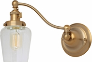 JVI Designs 1253-10-S9 Soho Liberty Modern Satin Brass Swing Arm Wall Light