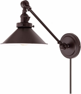 JVI Designs 1255-08-M3 Soho Oil Rubbed Bronze Swing Arm Wall Lamp