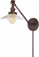JVI Designs 1255-08-S1 Soho Ashbury Contemporary Oil Rubbed Bronze Wall Swing Arm Light