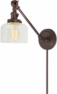 JVI Designs 1255-08-S4 Soho Shyra Contemporary Oil Rubbed Bronze Wall Swing Arm Lamp