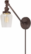 JVI Designs 1255-08-S9 Soho Liberty Modern Oil Rubbed Bronze Swing Arm Wall Light