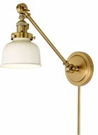 JVI Designs 1255-10-M2-Iv Soho Satin Brass and Ivory Wall Swing Arm Lamp