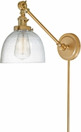 JVI Designs 1255-10-S5-CB Soho Madison Contemporary Satin Brass Wall Swing Arm Light