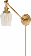 JVI Designs 1255-10-S9 Soho Liberty Contemporary Satin Brass Wall Swing Arm Lamp
