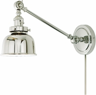 JVI Designs 1255-15-M2 Soho Polished Nickel Swing Arm Wall Lamp