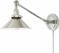 JVI Designs 1255-15-M3 Soho Polished Nickel Wall Swing Arm Lamp