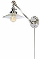 JVI Designs 1255-15-S1 Soho Ashbury Modern Polished Nickel Swing Arm Wall Lamp
