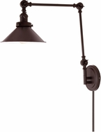 JVI Designs 1257-08-M3 Soho Oil Rubbed Bronze Wall Swing Arm Lamp
