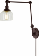 JVI Designs 1257-08-S4 Soho Contemporary Oil Rubbed Bronze Swing Arm Wall Lamp
