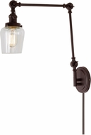 JVI Designs 1257-08-S9 Soho Contemporary Oil Rubbed Bronze Swing Arm Wall Lamp