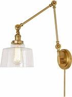 JVI Designs 1257-10-S14 Soho Modern Satin Brass Wall Swing Arm Lamp