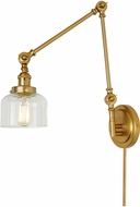 JVI Designs 1257-10-S4 Soho Contemporary Satin Brass Swing Arm Wall Lamp