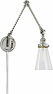 JVI Designs 1257-15-S10 Soho Contemporary Polished Nickel Wall Swing Arm Lamp