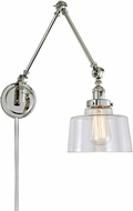 JVI Designs 1257-15-S14 Soho Modern Polished Nickel Swing Arm Wall Lamp