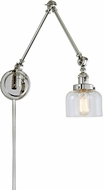 JVI Designs 1257-15-S4 Soho Contemporary Polished Nickel Wall Swing Arm Lamp