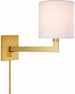 JVI Designs 1264-10 Allston Satin Brass Wall Swing Arm Lamp