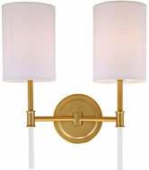 JVI Designs 1266-10 Hudson Satin Brass Lighting Sconce