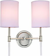 JVI Designs 1266-15 Hudson Polished Nickel Lamp Sconce