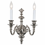JVI Designs 232-17 Pewter 14 Inch Tall Traditional Candle Wall Lighting