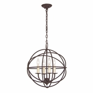 JVI Designs 3031 Medium 4 Candle Contemporary 15 Inch Diameter Mini Chandelier