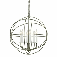 JVI Designs 3033 Extra Large 22 Inch Diameter Contemporary Chandelier - 6 Candles