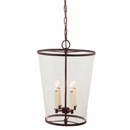 JVI Designs 3050-08 Large 4 Candle Oil Rubbed Bronze Drop Ceiling Lighting - Transitional