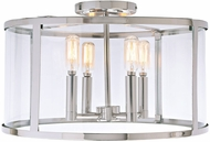 JVI Designs 3061-15 Bryant Contemporary Polished Nickel Ceiling Light Fixture