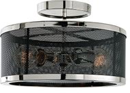 JVI Designs 3070-15 Wellington Contemporary Polished Nickel and Black Ceiling Light Fixture