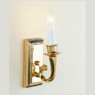 JVI Designs 315 Wall Mounted 7 Inch Tall Candle Sconce Light Fixture